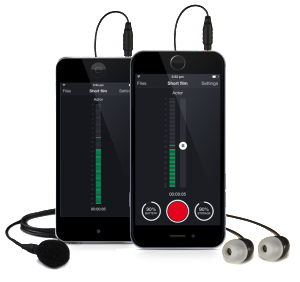 AirLinc wireless mic solution iPhone interface